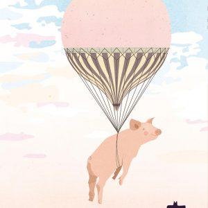 """Raymond le cochon volant</br><span style=""""font-size:14px;"""">de Sandrine Taclet</span>"""