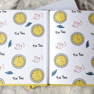 """Une horloge dans la tête </br><span style=""""font-size:14px;"""">de Justine Duhé</span>"""